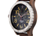 Nixon Men's 48mm 48-20 Chrono Leather Watch - Antique Copper/Brown 2
