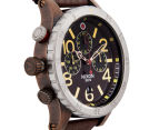 Nixon Men's 48mm 48-20 Chrono Leather Watch - Antique Copper/Brown 3