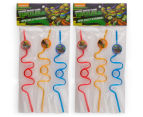 2 x Teenage Mutant Ninja Turtles Twisted Silly Straws 3pk - Multi 1
