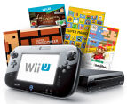 Nintendo Wii U 32GB Game Console + Super Mario Maker + Art Academy Atelier Game Bundle - Black 1