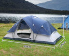 6 Person Family Camping Dome Tent - Navy/Grey 2