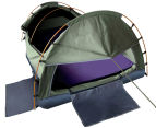 King Single Camping Canvas Swag Tent - Celadon 3