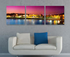 Bondi Beach Twilight 50x50cm 3-Part Canvas Wall Art Set 2