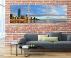 Gold Coast Panoramic 50x50cm 3-Part Canvas Wall Art Set 2