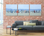 Yacht Race 50x50cm 3-Part Canvas Wall Art Set 2