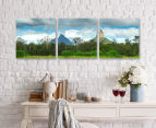 Glass House Mountain 50x50cm 3-Part Canvas Wall Art Set 2