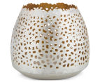 Small 7x8.5cm Tealight Votive w /Intricate Cut-Outs - Nickel 1