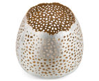 Small 7x8.5cm Tealight Votive w /Intricate Cut-Outs - Nickel 2