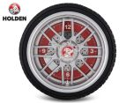 Holden 25.5cm LED Tyre Clock - Black/Red/Silver 1