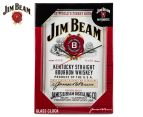 Jim Beam 35x23cm Glass Wall Clock - White 1