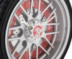Holden 25.5cm LED Tyre Clock - Black/Red/Silver 5