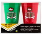 NRL South Sydney Rabbitohs 2 x Pack Tumbler - Red/Green 6