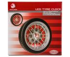 Holden 25.5cm LED Tyre Clock - Black/Red/Silver 6