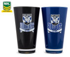 NRL Canterbury Bulldogs 2 x Pack Tumbler - Black/Blue 1