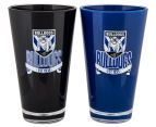 NRL Canterbury Bulldogs 2 x Pack Tumbler - Black/Blue 2