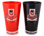 NRL St. George Illawarra Dragons 2 x Pack Tumbler - Red/Black 2