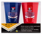 NRL Newcastle Knights 2 x Pack Tumbler - Blue/Red 6