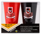NRL St. George Illawarra Dragons 2 x Pack Tumbler - Red/Black 6