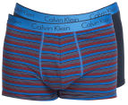 Calvin Klein Men's CK One Cotton Trunk 2-Pack - Blue Shadow/Multi Stripe 1