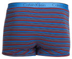 Calvin Klein Men's CK One Cotton Trunk 2-Pack - Blue Shadow/Multi Stripe 5