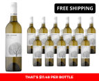 12 x Cool Woods Eden Valley Chardonnay 2015 750mL 1