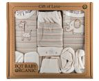 Organic Cotton Baby Animal 6-Piece Gift Set - Cream 1