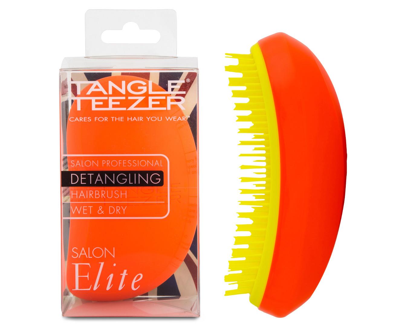 Tangle teezer salon elite detangling hairbrush orange for Salon orange