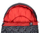 Caribee Moonshine +5C Sleeping Bag - Charcoal/Flame Red 2