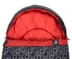 Caribee Moonshine +5C Sleeping Bag - Charcoal/Flame Red 2