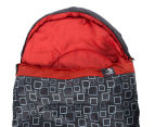 Caribee Moonshine -5C Sleeping Bag - Charcoal/Flame Red 2