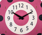 Lydia Ladybird Clock - Red/Black 4