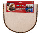 Cushy Pets Pet Bowl Mat - Camel 1