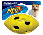 NERF Dog Medium Crunchable Football - Green 1