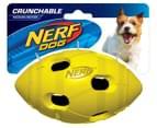 NERF Dog Medium Crunchable Football - Green 1
