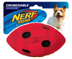 NERF Dog Medium Crunchable Football - Red 1