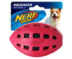 NERF Dog Large Checker Crunchable Squeaker Football - Red 1