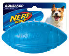 NERF Dog Medium Pro Grip Squeaker Football - Blue 1