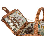 Avanti 2 Person Picnic Basket - Light Brown Willow/Bathing Box 3