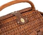 Avanti 4 Person Picnic Basket - Light Brown Willow/Blue Checker 4