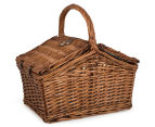 Avanti 2 Person Picnic Basket - Light Brown Willow/Bathing Box 6