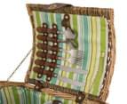 Avanti 2 Person Picnic Basket - Natural Willow/Seaside 5