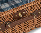 Avanti 2 Person Picnic Basket - Light Brown Willow/Blue Checker 5