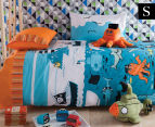 KAS Kids Under The Sea Single Bed Quilt Boys Cover Set - Multi 1