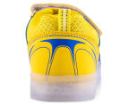 GLEAMKICKS Kids' Robo Gleamer Shoe - Blue/Yellow 4