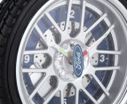 Ford 25.5cm LED Tyre Wall Clock - Black/Blue/Silver 5
