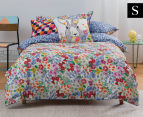 KAS Kids Daisy Single Bed Quilt Girls Cover Set - Multi  1