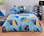 KAS Kids Hugo Single Bed Quilt Cover Set - Multi 1