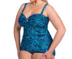 Sea Star Women's Tonia One Piece Swimsuit - Blues Animal 4
