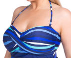 Sea Star Women's Nicola One Piece Swimsuit - Turquoise/Navy Stripe 6