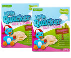 2 x Little Quacker Organic Strawberry Flavour Rice Biscuits 40g 1